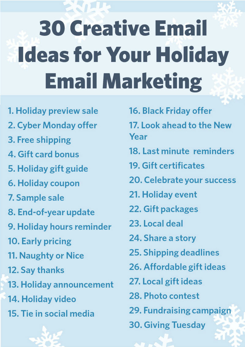 30 Email Ideas for the Holidays