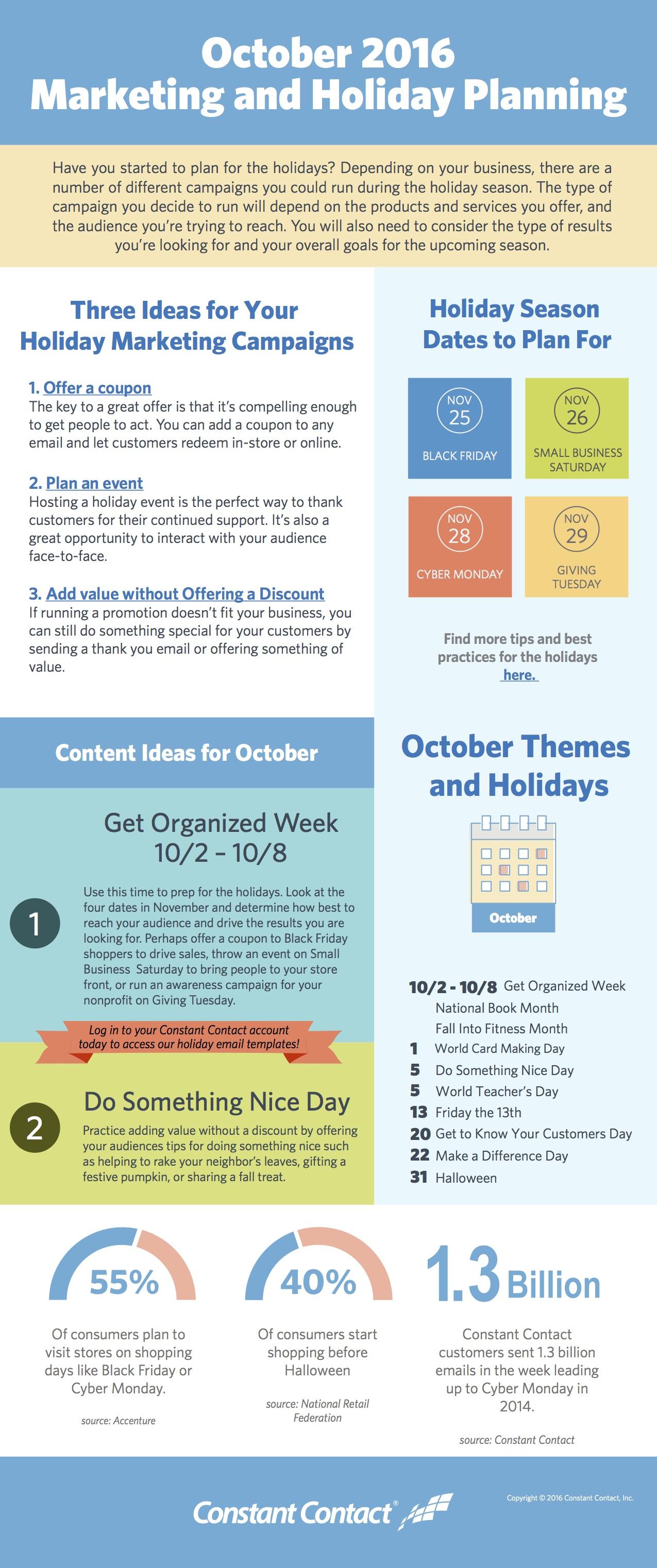 October Holiday Planning & Marketing